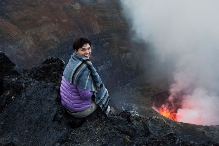 Adventure Fire Landscape Lava Mountain Mountain View Outdoors Virunga Volcano Volcano Crater