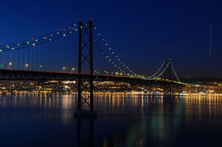 Salazar's Bridge HUAWEI Photo Award: After Dark City Cityscape Urban Skyline Water Illuminated Industry Steel Suspension Bridge Bridge - Man Made Structure Horizon