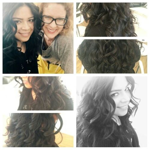 This girl has the best hair ever... Blowoutoftheday Blowout Curls Brunette hairstyle beachywaves PatriciaLynnLaasHairCo btspics