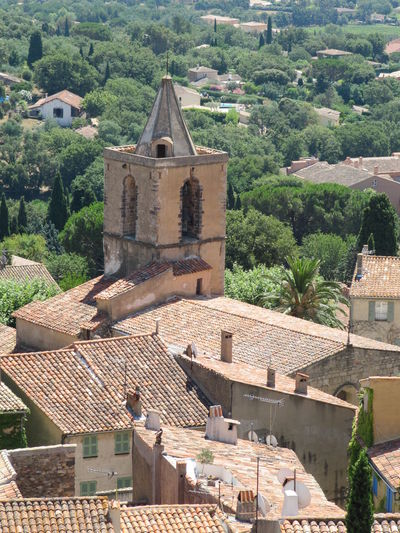 Church Old Village France Old Buildings Old Town Red Roofs Red Summer Sunlight