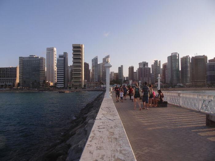 Architecture Beach Bridge - Man Made Structure City Cityscape People Travel Destinations Urban