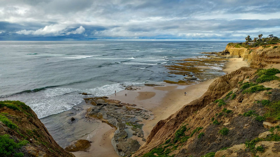 Sunday fun day down at Sunset Cliffs Natural Park and Plant Preserve in San Diego, California Sea Water Beach Land Sky Beauty In Nature Scenics - Nature Cloud - Sky Horizon Over Water Horizon Tranquility Tranquil Scene Nature Day No People Sport Idyllic Non-urban Scene Sand Outdoors Sunset Cliffs Natural Park Point Loma San Diego California