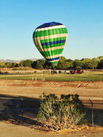 Someone is taking a Balloon Ride this morning at West Wetlands Park🎈✨ Hot Air Ballooning Having Fun Enjoying The View Peace Of Mind Me Alone Morning Walk IPhone Photography Hot Air Balloon Sky Balloon Nature Air Vehicle Clear Sky Transportation Outdoors Mode Of Transportation