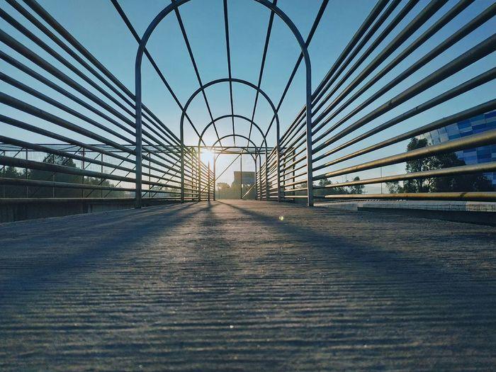 City Bridge - Man Made Structure Sky Architecture Built Structure Empty Road Footbridge Suspension Bridge Bridge Engineering