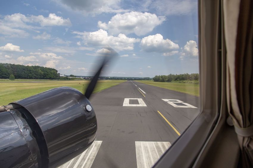 Ready for Take-Off Transportation Sky Cloud - Sky Mode Of Transportation Air Vehicle Nature Window Glass - Material Day Airport Runway Airplane Travel Airport No People Outdoors Transparent Vehicle Interior Sunlight Runway Land Vehicle
