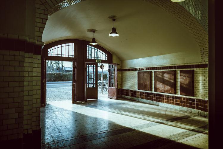Window in corridor