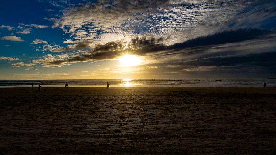 sunset Sky Scenics - Nature Water Sunset Beauty In Nature Sea Cloud - Sky Tranquil Scene Tranquility Horizon Horizon Over Water Land Beach Nature Sand Sun Idyllic No People Non-urban Scene Outdoors Bright Low Tide Maroc
