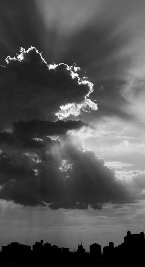 Gotham, 2017. Cloud - Sky Cloudscapes Sky Outdoors Day Dramatic Clouds Dramatic Skies Nature Cityscapes Black And White Horizon Over The Land Building's  Silhouette Photography