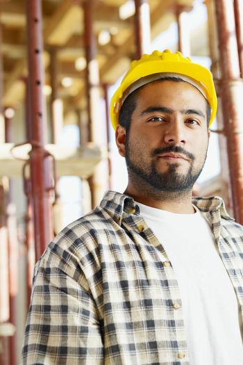 Portrait of senior man working