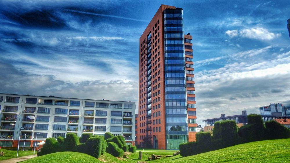 Hdr_Collection Eye4photography  Fujifilm Finepix SL1000 Landscape Düsseldorf, Medienhafen Achitecture Architecture_collection Sky And Clouds Cloud_collection  Buildinds