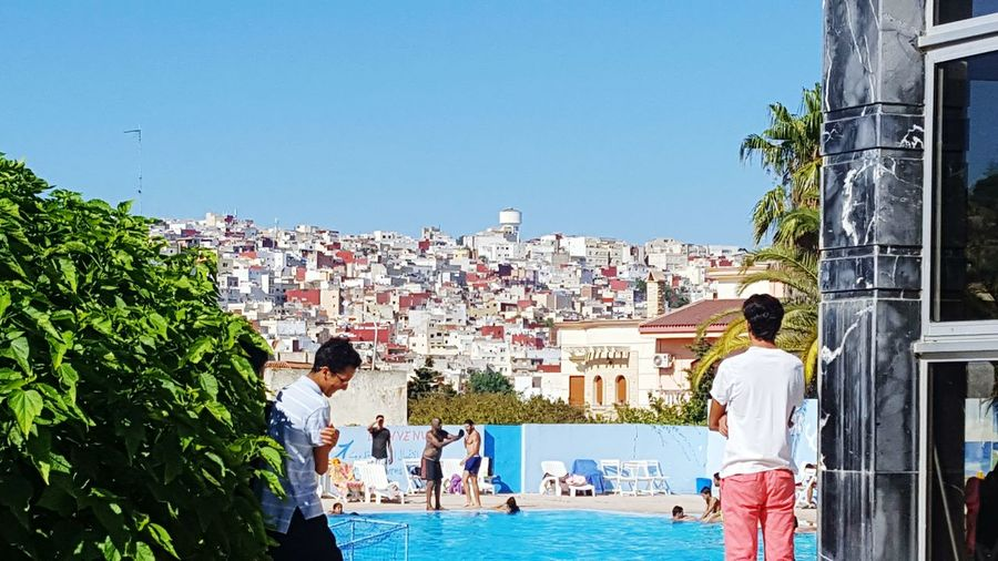 The town on the montain Favelas Marocco Sun Outdoors Real People Building Exterior Architecture Blue Sky First Eyeem Photo The Week On EyeEm Done That. Been There.