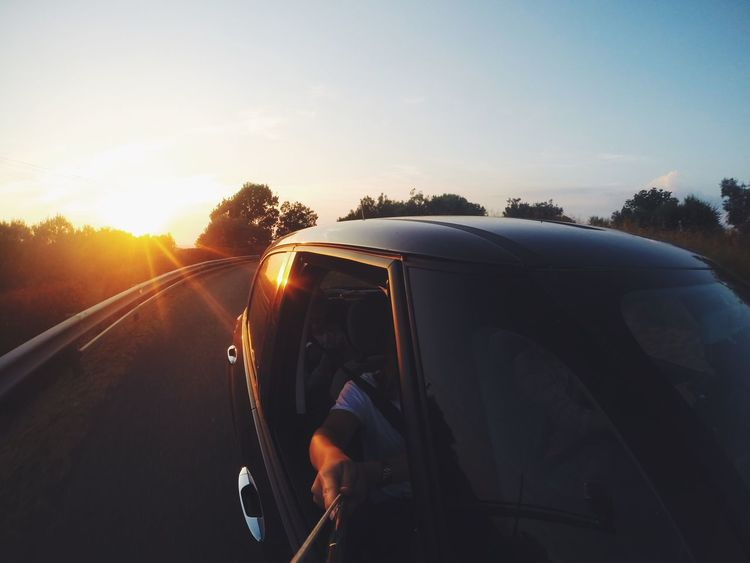 On the road. Italy Tuscany Road Roadtrip Hello World Car Sun Sunset Taking Photos Enjoying Life Street Gopro Goprooftheday GoPro Hero3+ 43 Golden Moments