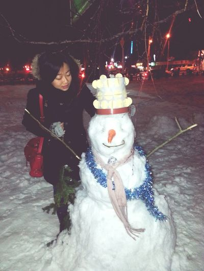Snowman And Me 😘