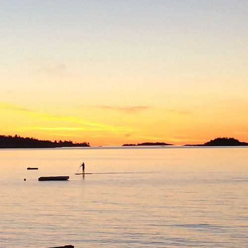 Sunset Tranquility Tranquil Scene Scenics Landscape Reflection Horizon Over Water Silhouette Beauty In Nature Sea Beach Sky Awe Full Length Outdoors Water Nature Blue Travel Destinations No People BeautifulOriginalphotography Natural Beauty Blessed & Thankful :) British Columbia