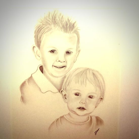 Awesome drawing of my kids