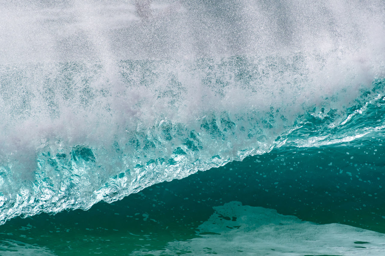 water, sea, motion, wave, power