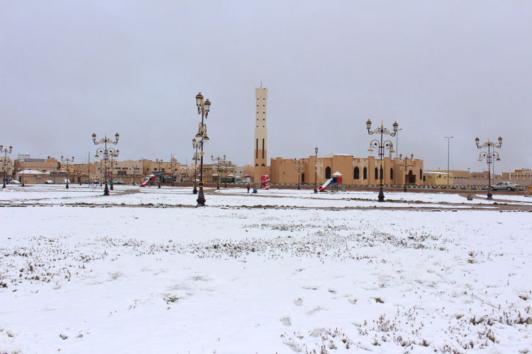 Climate Change Cold Temperature EyeEm Gallery Ice Age Mosque Outdoors Saudi Arabia Snow Winter Ice Age ❄