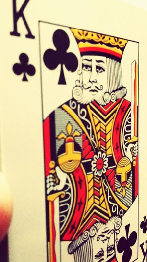 King is always KING.. Shot_on_moto_g3 Mobilephotography Playing Cards King Clubs Mobile Photography