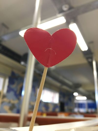 Heart Shape Love Red Indoors  Focus On Foreground Close-up No People Day Sad Heart Heart ❤ Heart