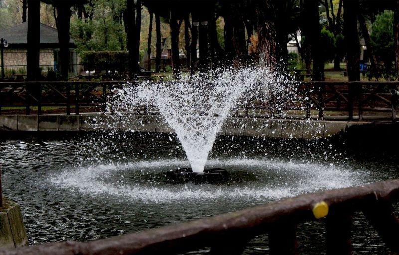 Water splashing in fountain at park