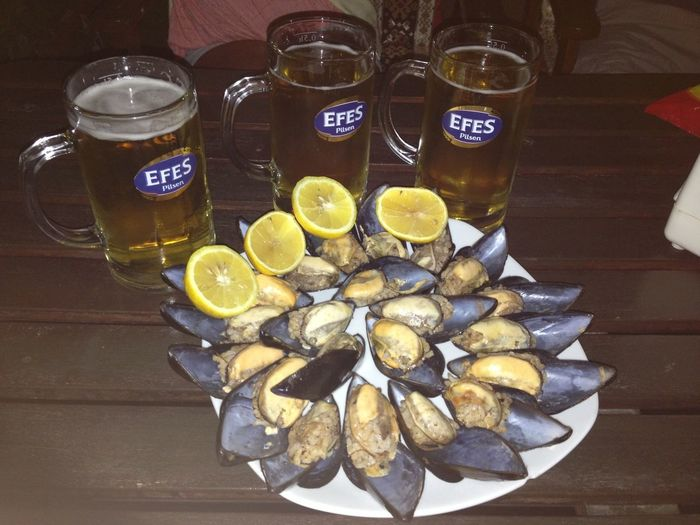 Summer Beer Lemon Mussels