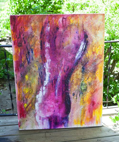 stardust 30x40 acrylic on canvas Art Painting