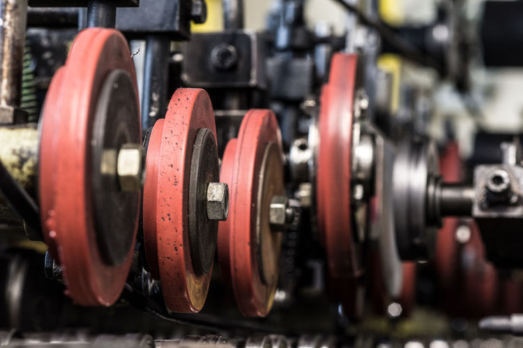 Business Choice Close-up Equipment Factory Focus On Foreground In A Row Indoors  Industry Large Group Of Objects Machine Part Machinery Manufacturing Equipment Metal No People Retail  Selective Focus Technology Wheel