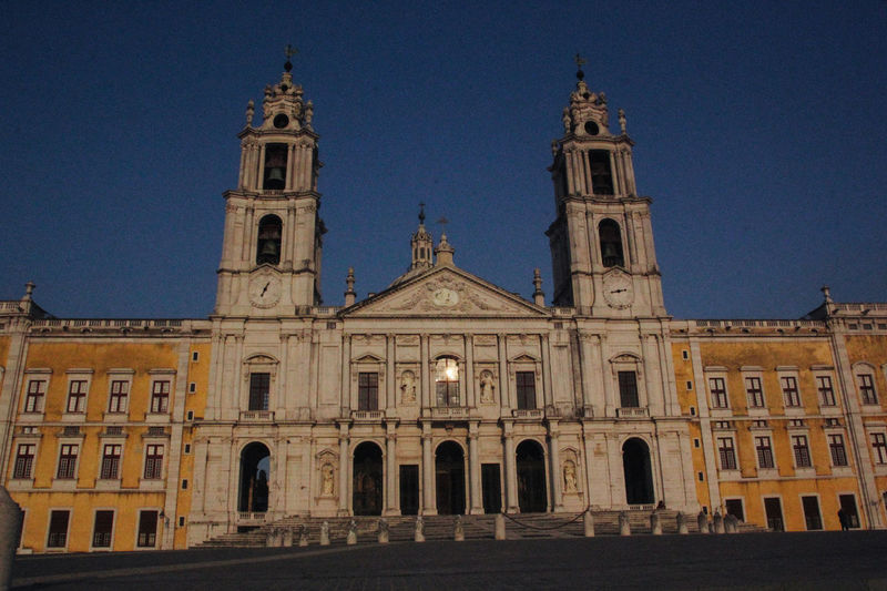 Convento De Mafra Arch Architecture Building Exterior Built Structure Clear Sky Day Façade History Low Angle View No People Outdoors Place Of Worship Religion Sky Spirituality Travel Destinations