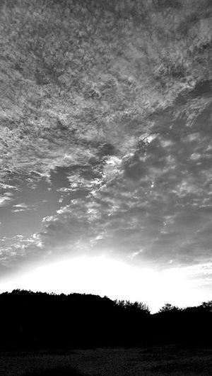 Blackandwhite Sky And Clouds Enjoying The Sun