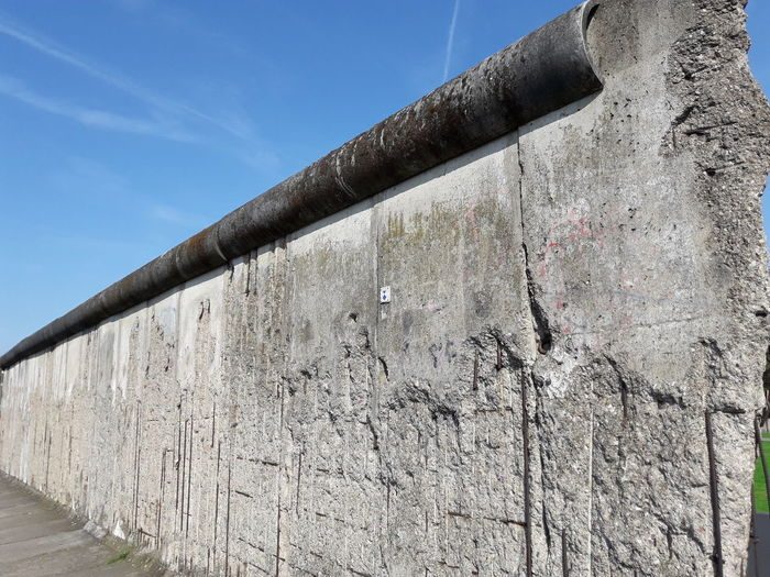 Low angle view of the berlin wall