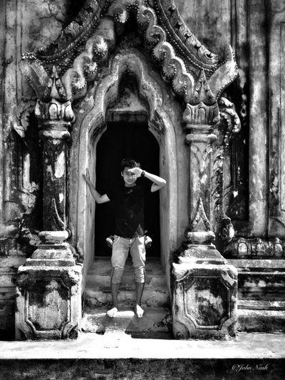 Famous Architecture in InnWa(Burma) 28-06-2013 / 3:14PM (@MelNu Brick Temple) Blackandwhite Enjoying Life That's Me B_w Collection