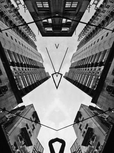 Mark on the sky Doubleexposure Double Exposure Art Abstract Monochrome Black And White Black & White Blackandwhite EyeEm Best Shots - Black + White Rearchitseries Geometric Abstraction Abstractarchitecture Urban Geometry Urban Abstractart