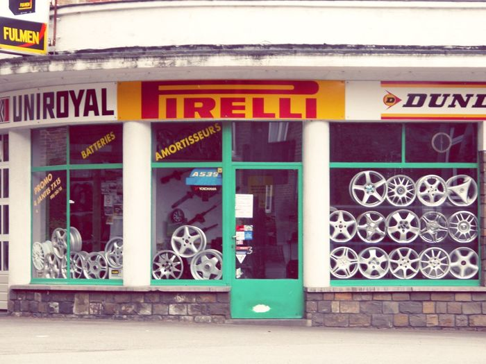 Beautifully Organized Wheels Car shop Building Exterior