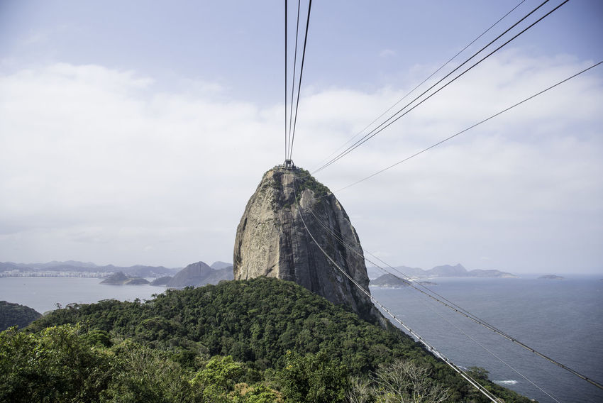 Green Tree Blue Cable Landscape Mountain Sky Sugarloaf