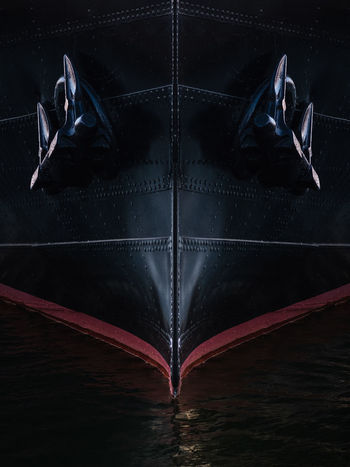 Indoors  No People Black Color Blue High Angle View Directly Above Close-up Dark Red Digital Composite Arts Culture And Entertainment Nature Symmetry Night Ship Boat Marine Marina Harbor Water Icebreaker Sankt Erik Symmetrical Djurgården Vasa Museum