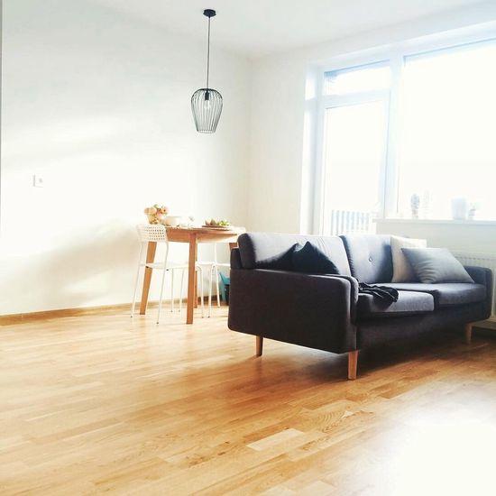 Scandinavian Interior Scandi Style Scandinavian Design Bright Colors Flat Minimalism Wooden Desk Sofa Oak Floor Flat