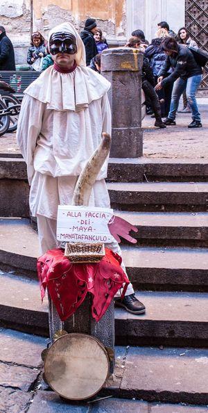 Pulcinella Ritratto Napoli Tradizioni Tradizione Napoletana #malocchio Corno Folclore Maschera Strada