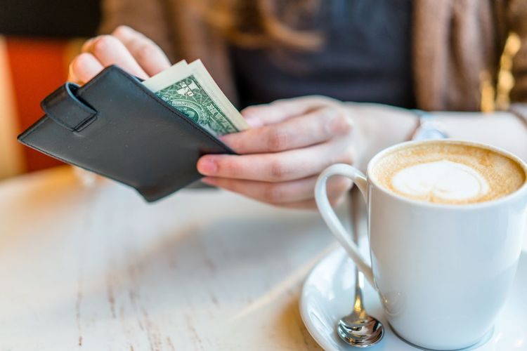 200 2000 New Banknote Cafe Cappuccino Cash Close-up Coffee - Drink Coffee Cup Day Drink Finance Focus On Foreground Food And Drink Freshness Froth Art Frothy Drink Holding Human Body Part Human Hand Indoors  Latte Money One Person People Real People Refreshment Rouble Ruble Russian Currency Table Рубль рубли