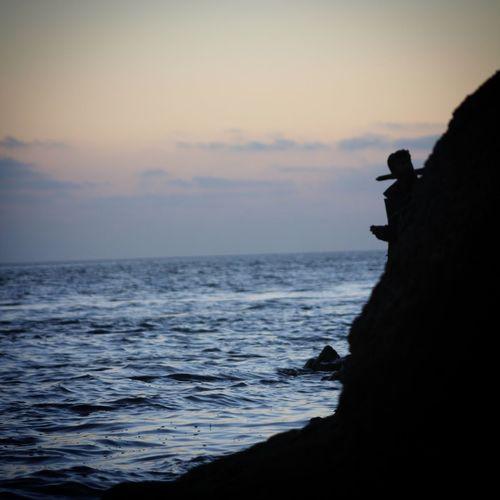Seaside Seaside_collection Seascape Seashore Sealife Sea And Sky Man Fisherman Sunset Nature_collection