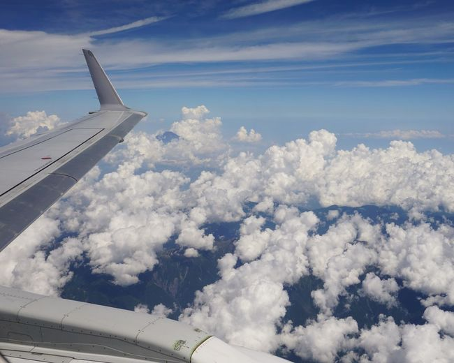 Sky And Clouds Mountain Mt.Fuji Cloud - Sky Airplane Sky Mode Of Transportation Flying Aerial View Travel Nature