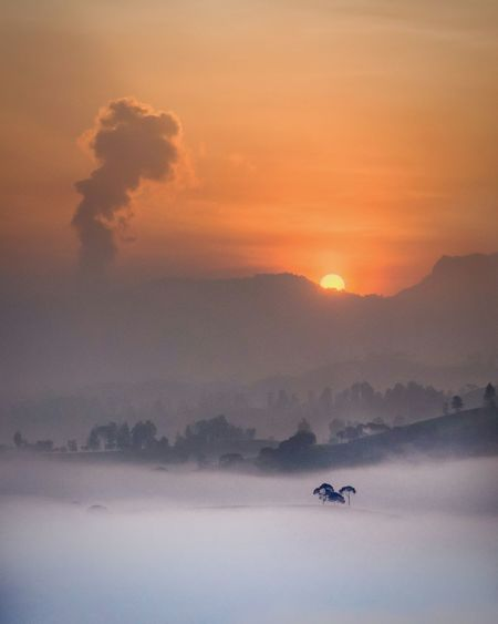 Waiting for the sun Landscape Beauty In Nature Nature Aerial View Sky Outdoors EyeEmNewHere Sunrise_Collection Flamingo Sunrise Colors EyeEm Nature Lover EyeEm Best Shots - Landscape Pesonaindonesia Wonderfulindonesia INDONESIA Cukul Sunrisepoint Pangalengan Exploreindonesia Explorepangalengan Lensapangalengan Nikon D7000 Iamindonesia Bestnatureshot Followthesun Be. Ready.