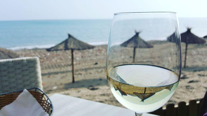 Wine Not First Eyeem Photo Spain🇪🇸 Andalucía Malaga Korean Studyabroad Europe Beach SEAFOOD🐡 Whitewine Spanish Sunshine ☀ EyeEmNewHere