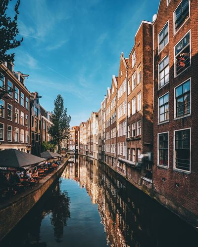 Sunny days City Architecture Photo Summer Explore Cityscape Sun Travel Destinations Travel Houses EyeEm Best Shots Holland Netherlands Reflection Canal Amsterdam Building Exterior Built Structure Architecture Water City Reflection Canal Building Waterfront Sky Residential District Day Row House The Architect - 2018 EyeEm Awards