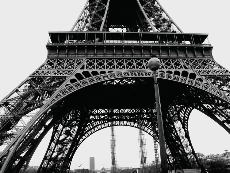 Paris, France  Eiffel Tower Looking Up Can Be So Rewarding Ironwork  Beautiful Engineering OpenEdit Exploring New Ground Black And White Photography Architecture_bw Up Close Street Photography The Architect - 2016 EyeEm Awards
