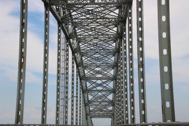 Architecture Metal Built Structure Bridge Low Angle View No People