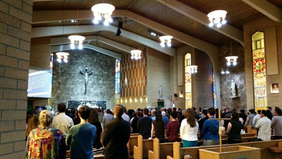 Mass Church People Worship Listening To God