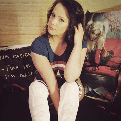 My Nerdwife @velvetblow DC Marvel Cptamerica GermanGirl Overknees