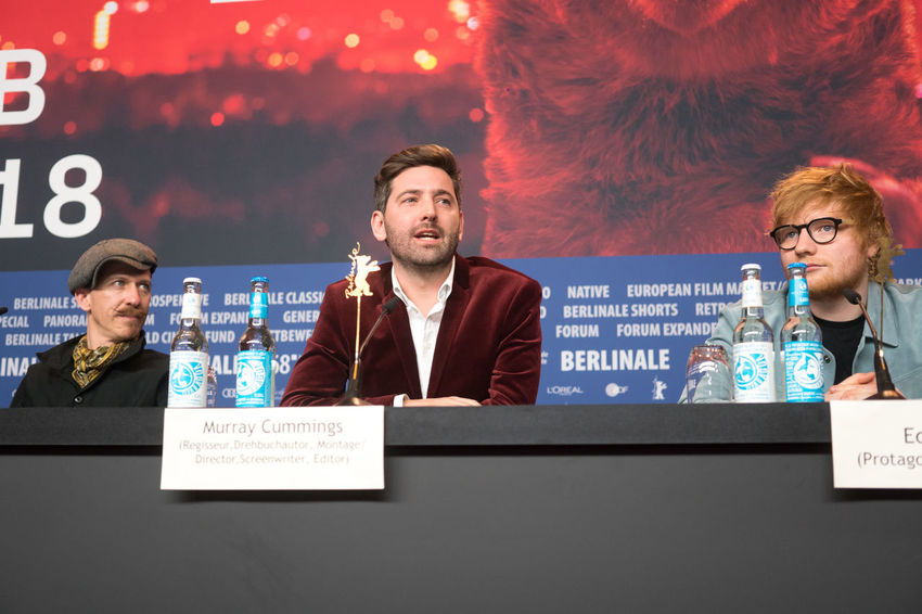 Berlin, Germany - February 23, 2018: English singer, songwriter, guitarist Ed Sheeran, director Murray Cummings and songwriter Foy Vance attend the 'Songwriter' press conference at 68th Berlinale 2018 Artist Ed Sheeran Ed Sheeran <3 Ed Sheraan❤ Famous Film Festival Interview Press Singer  The Media Adult Berlinale Berlinale 2018 Berlinale2018 Communication Documentary Foy Vance Mass Media Murray Cummings People Press Conference Songwriter Young Adult