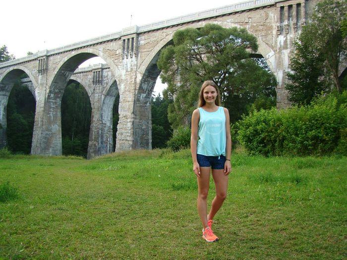 Mazury Young Women Holiday Memories Views Runnersworld Bridge - Man Made Structure
