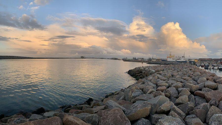 Water Sky Rock